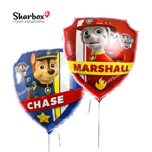 Воздушный шар Щенячий патруль Чейз и Маршал с гелием