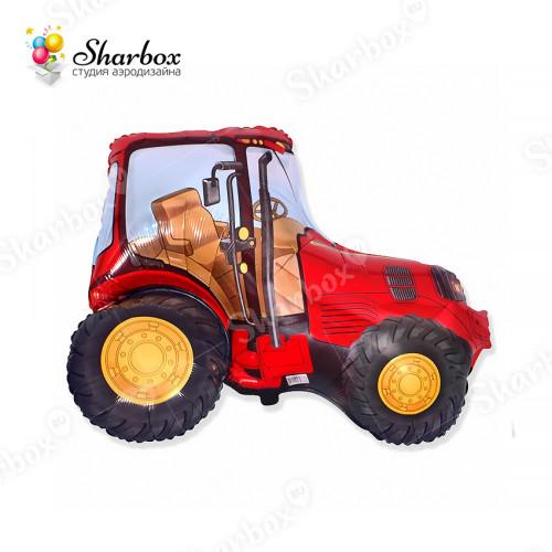 Воздушный шар Трактор красный с гелием