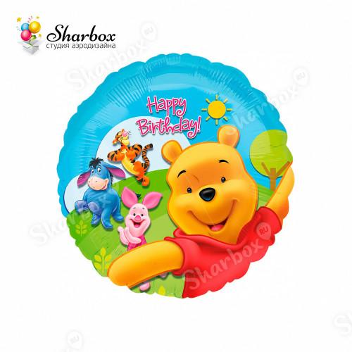 Воздушный шар Винни Пух и друзья с гелием