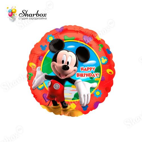 Воздушный шар круг Микки Маус СДР с гелием