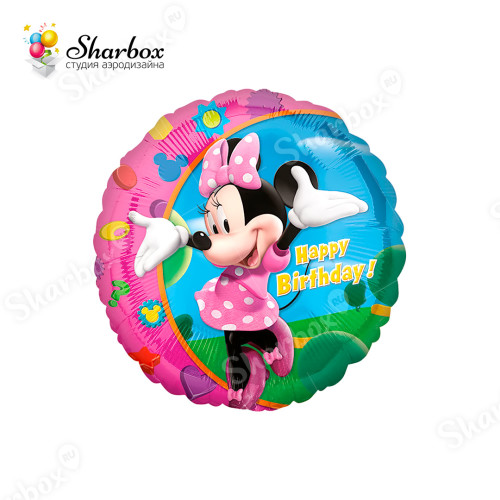 Воздушный шар круг Минни Маус СДР с гелием