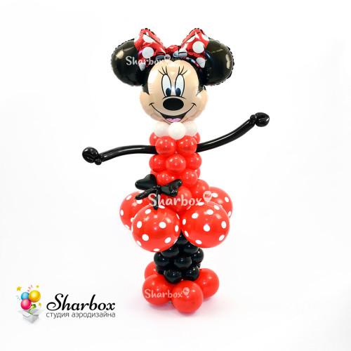 Минни Маус из шаров в красном в подарок