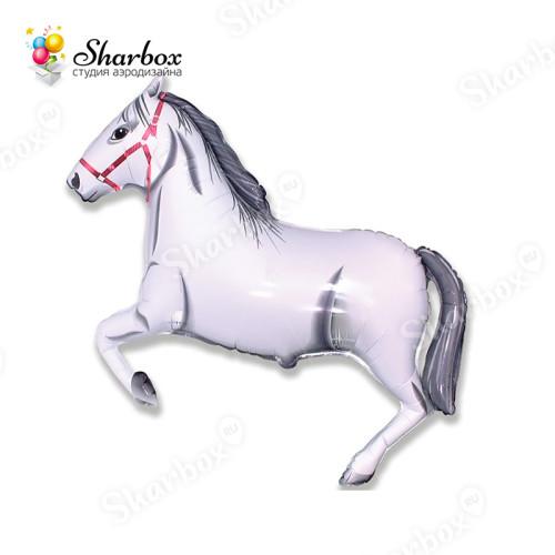 Воздушный шар Лошадь белая купить