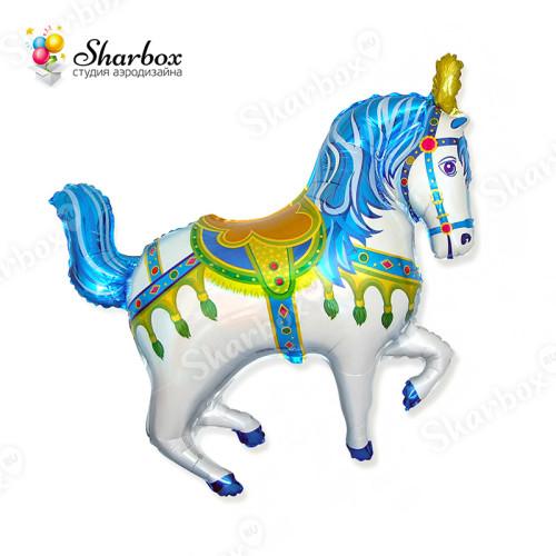 Воздушный шар Лошадка синяя с гелием
