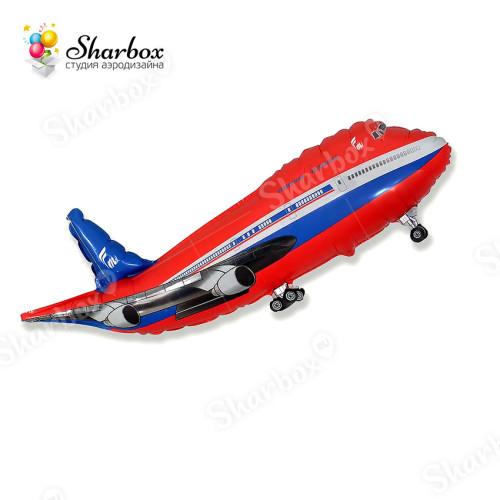 Воздушный шар Самолет красный с гелием