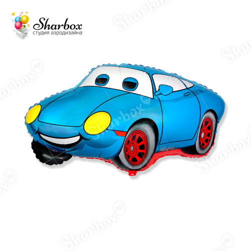 Воздушный шар Веселый гонщик синий купить
