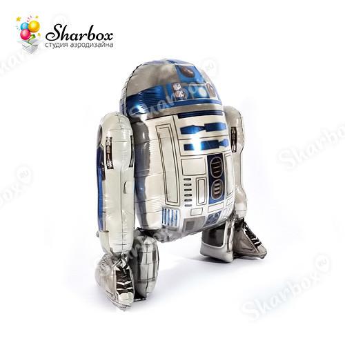 Ходячий шар Звездные войны дроид R2D2 с гелием