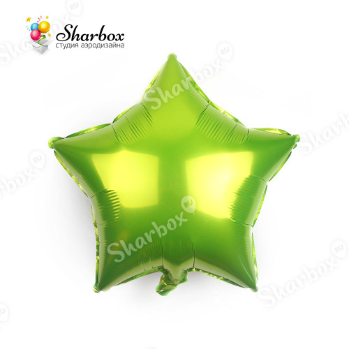 Шар Звезда лайм с гелием