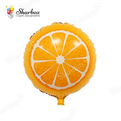Воздушный шар Апельсин круг с гелием