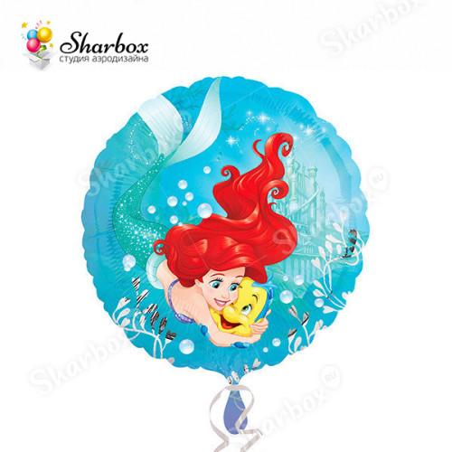 Воздушный шар Ариель и Флаундер с гелием