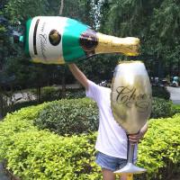 Воздушный шар Бутылка шампанского, фото 01