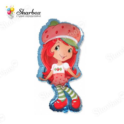 Воздушный шар Девочка-клубничка с гелием