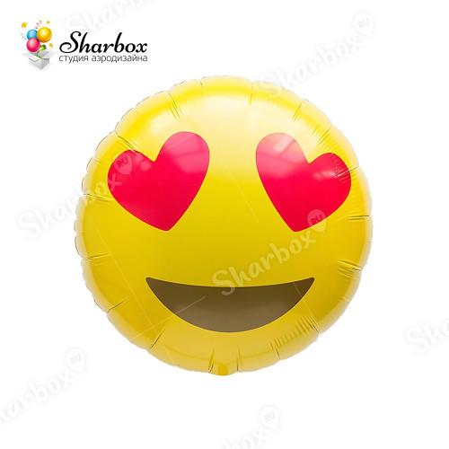 Воздушный шар Смайл Влюбленный с гелием