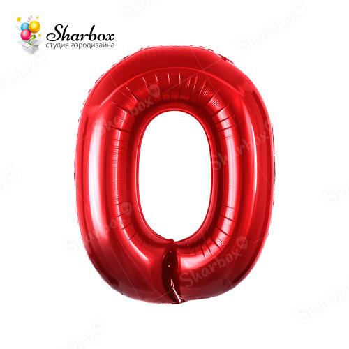 Гелиевый Шар цифра 0 красная