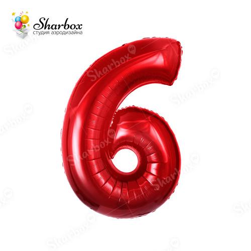 Гелиевый Шар цифра 6 красная