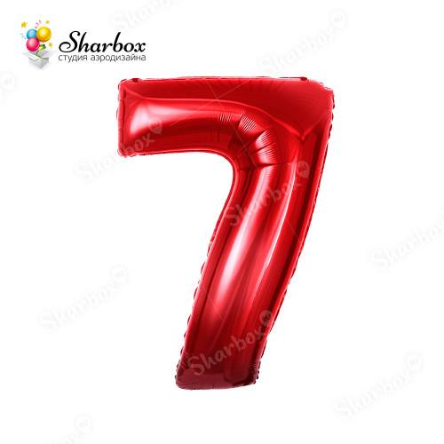 Гелиевый Шар цифра 7 красная