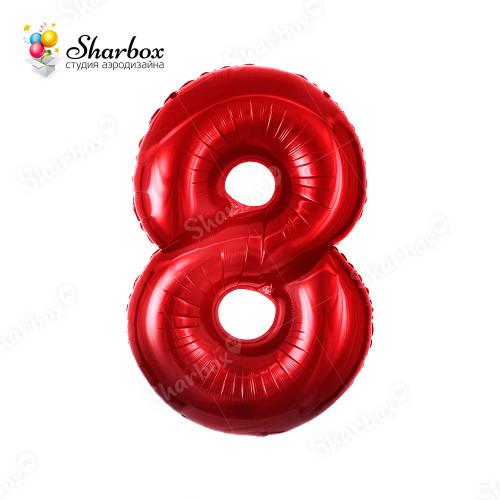 Гелиевый Шар цифра 8 красная
