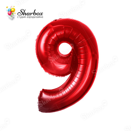 Гелиевый Шар цифра 9 красная
