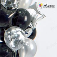 Набор гелиевых шаров Черный жемчуг с доставкой