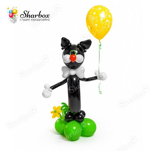 Черный кот фигура из шаров в Тюмени