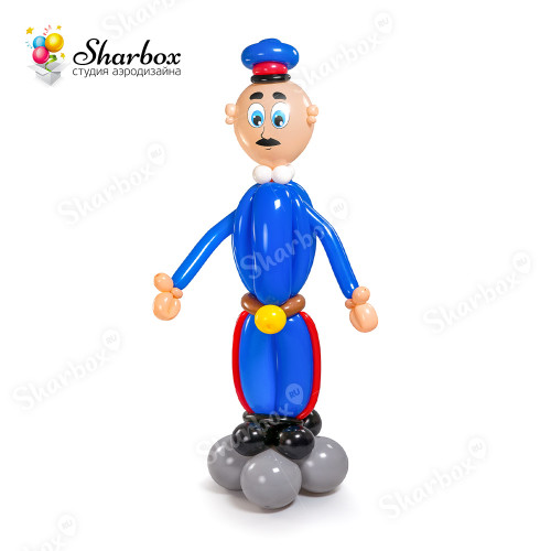 Полицейский из шаров в Тюмени