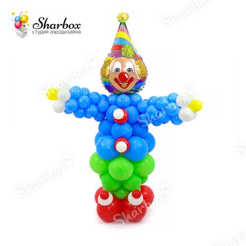 Веселый клоун из шаров в Тюмени