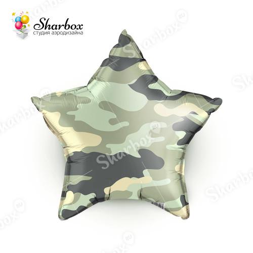 ГелиевыйШар Звезда, Камуфляж зеленый