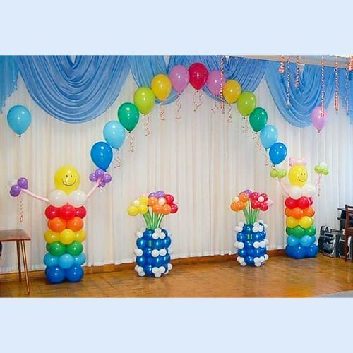 Оформление из шаров в детском саду №10. Пример