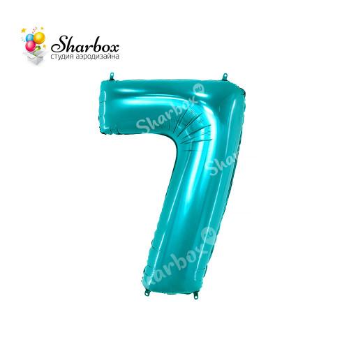 Шар-цифра 7, тиффани с гелием