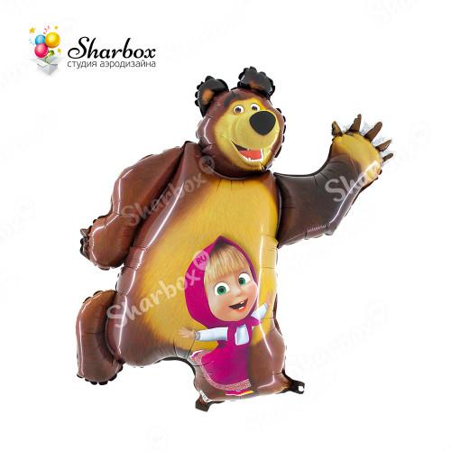 Воздушный шар Маша и медведь с гелием