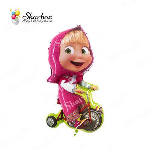 Воздушный шар Маша на велосипеде с гелием