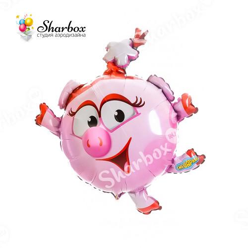 Воздушный шар Смешарик Нюша с гелием