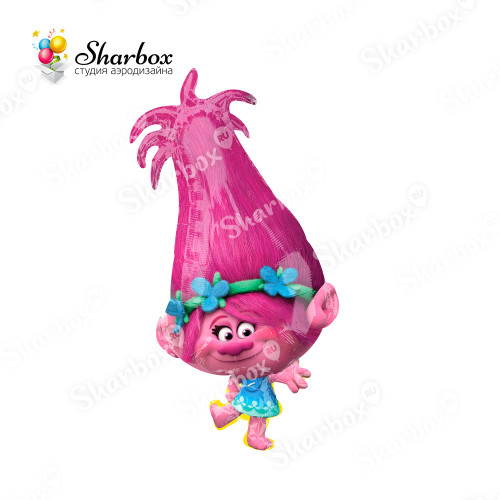 Воздушный шар Тролли Розочка с гелием