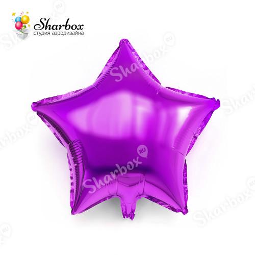 Шар Звезда лиловый с гелием