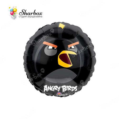Шар Круг Angry Birds Черная