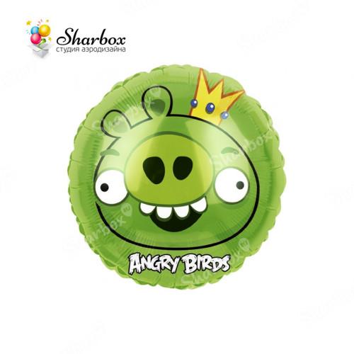 Шар Круг Angry Birds Зелёная