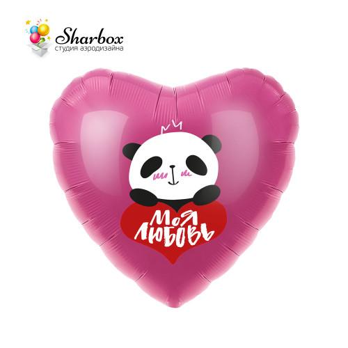 Шар Сердце В Объятиях Панды