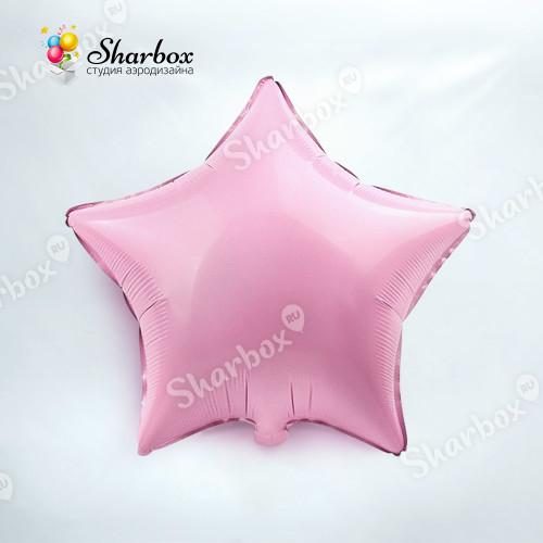 Шар Звезда розовый с гелием
