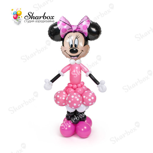 Минни Маус из шаров в розовом SHARBOX