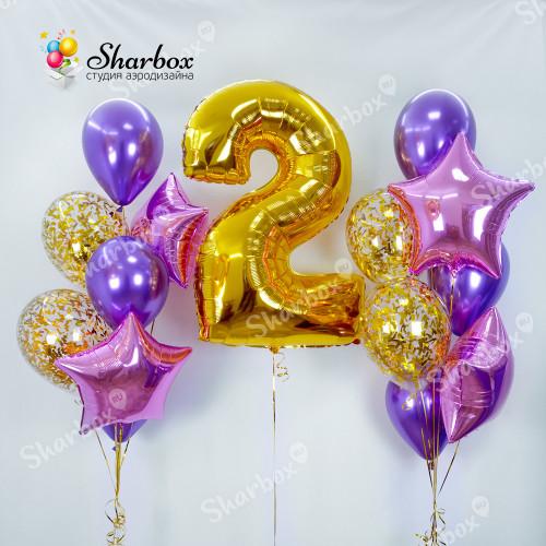 Набор шаров Фиолетовые искры