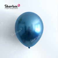 Гелиевые Шары хром синий