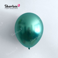 Гелиевые Шары хром зелёный