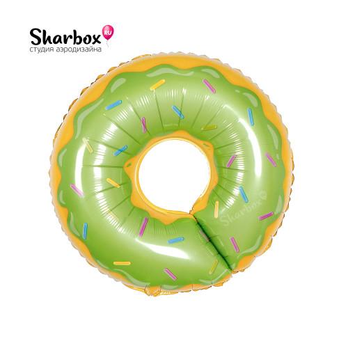 210-020 Шар фигура Пончик Зеленый