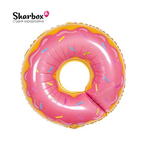 210-021 Шар Фигура Пончик Розовый