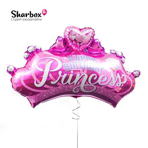 Гелиевый Шар Фигура Корона Принцессы