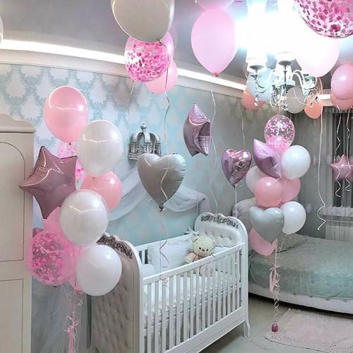 Оформление шариками комнаты малыша сет №02