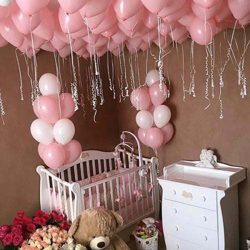 Оформление шариками комнаты малыша сет №05