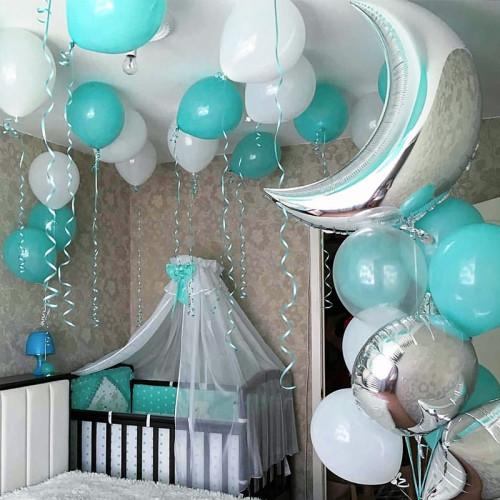 Оформление шариками комнаты малыша сет №06