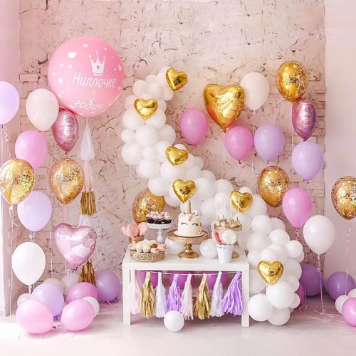 Оформление шариками комнаты малыша сет №07