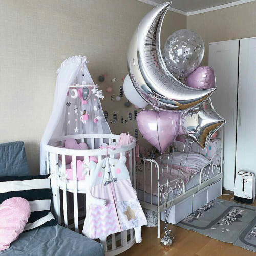 Оформление шариками комнаты малыша сет №08
